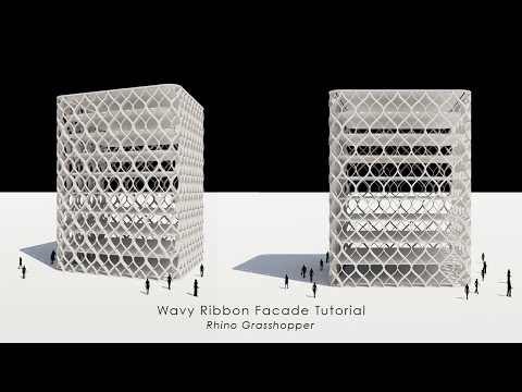 Wavy Ribbon Facade Rhino Grasshopper Tutorial