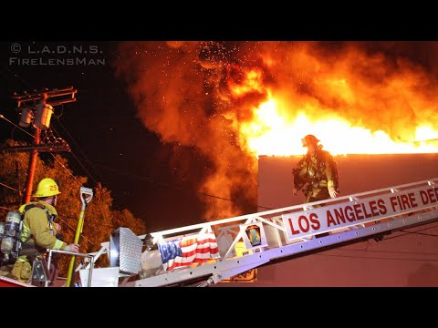 "LAFD: Koreatown ""Re-Burn"", Vacant Restaurant Mini Mall Fire"