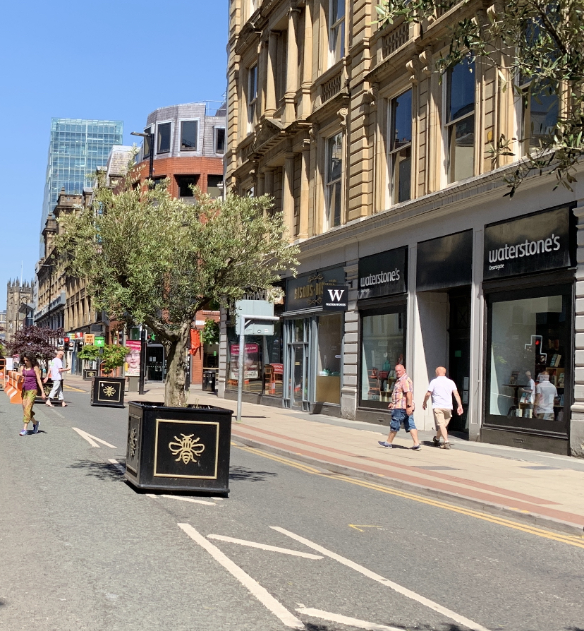 No vehicular access on a familiar section of Deansgate