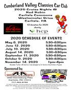 Cumberland Valley Classic Car Club 2020 Cruise Nights