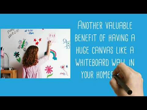 Learning From Home: Tips on Using Whiteboard Painted Wall [VIDEO]