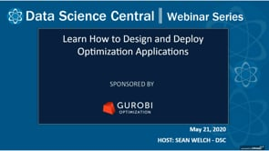 DSC Webinar Series: Learn How to Design and Deploy Optimization Applications