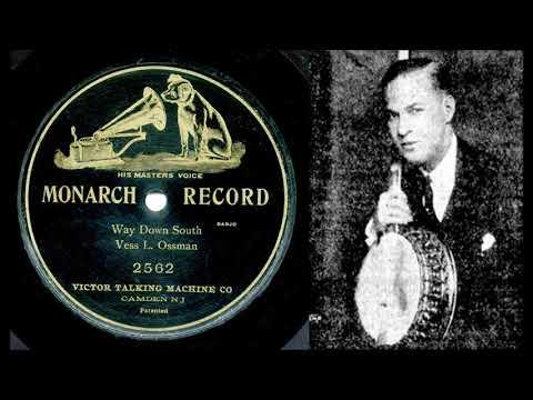 WAY DOWN SOUTH, Vess L. Ossman levytti banjosoolona pianon säestyksellä 5.11.1903