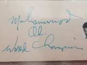 Ali signed card from '66