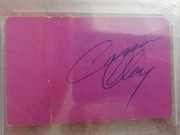 Liston vs Patterson 2 ticket back signed Clay