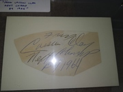"Clay signed cut ""next champ by 1964"""