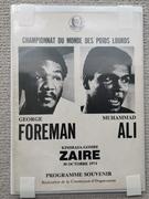 Foreman Ali Zaire fight program