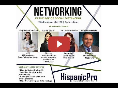 """""""Networking in the Age of Social Distancing"""" Webinar"""