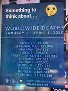 World wide deaths 2020