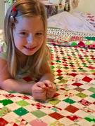 Ruby and her quilt Ruby Tuesday Christmas