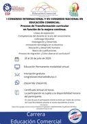 I Congreso Internacional y VII Congreso Nacional en Educación Comercial
