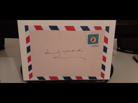 Paul McCartney Autograph Signed Hey Grandude Promo Sticker Postcard