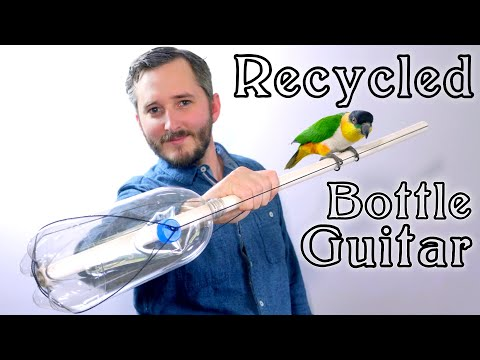 How To Make A Bottle Guitar (3 Parts and NO Tools)