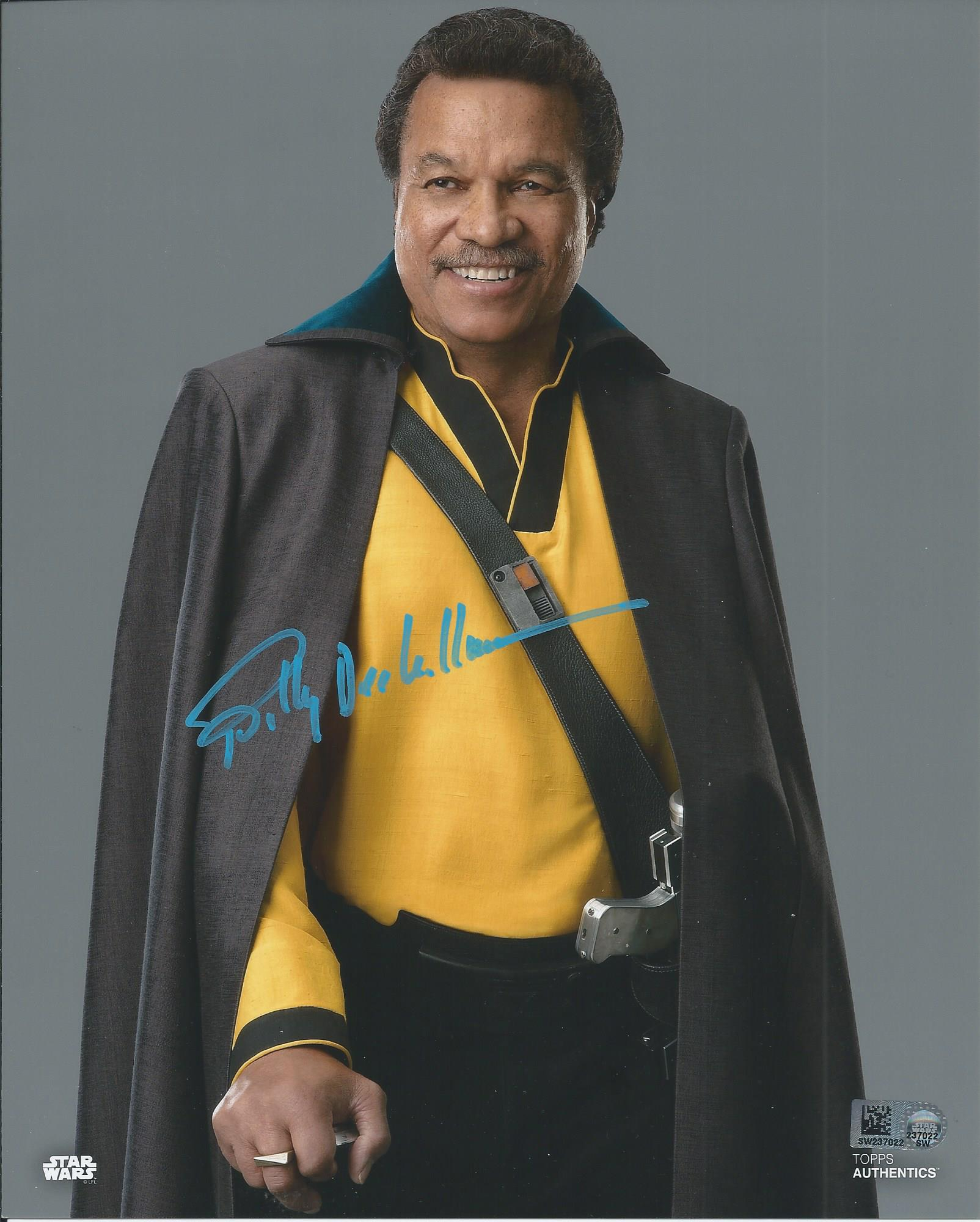 Billy Dee Williams autographed Lando Calrissian from The Rise o