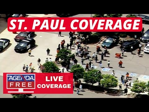St. Paul Live Coverage Looting, burning...