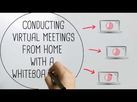 Conduct Online Meetings From Home With The Use of a Whiteboard Wall