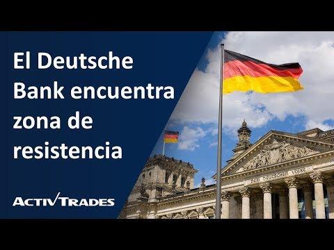 Video Análisis: El Deutsche Bank encuentra zona de resistencia