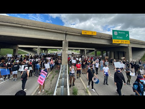 Shut it Down: Protesters Block Highways in Ann Arbor, Michigan Today