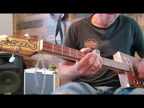 Can't be satisfied cigarbox guitar