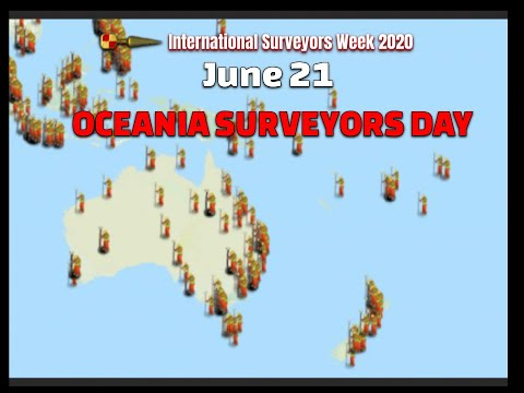 Oceania Surveyors Day June 21st #ISW2020 International Surveyors Week