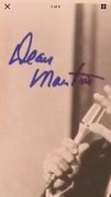 Dean Martin autograph