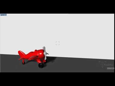 Animation airplane 3D - Bongo