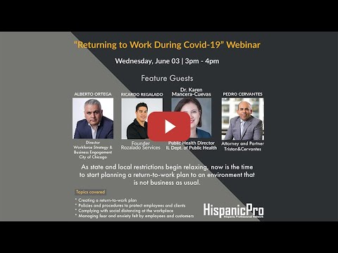 Returning to Work During Covid-19 Webinar