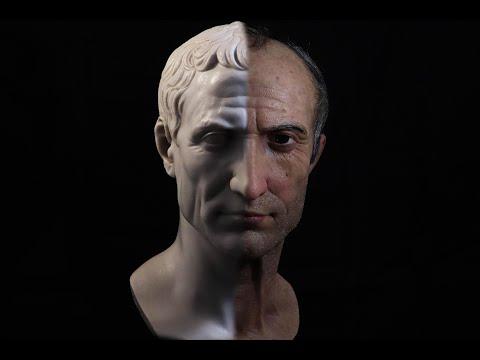 Escultura hiperrealista Julio César