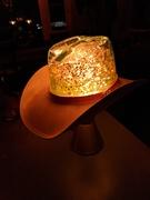 Custom Made Cowboy Hat Glitter Lamp