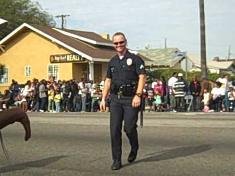 Dancing Cop at the Martin Luther King Parade in Leimert Park Los Angeles
