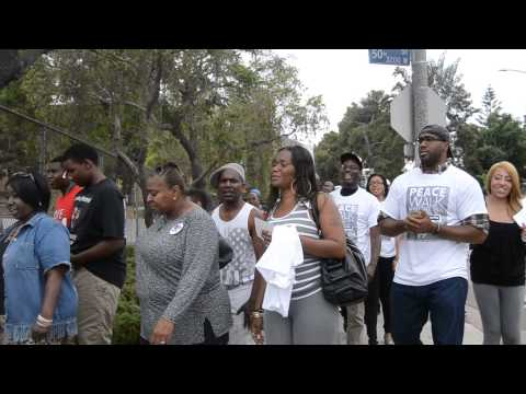 Hundreds attend peace walk for Trayvon Martin at Crenshaw High School 7/19/2014