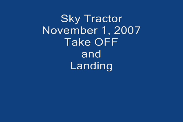 sky tractor take off and land