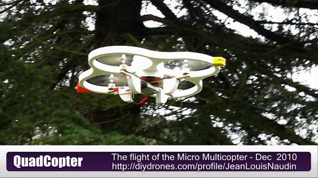 A new test flight of the Micro Multicopter
