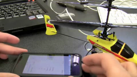 iPhone Application to Control Helicopter Servos