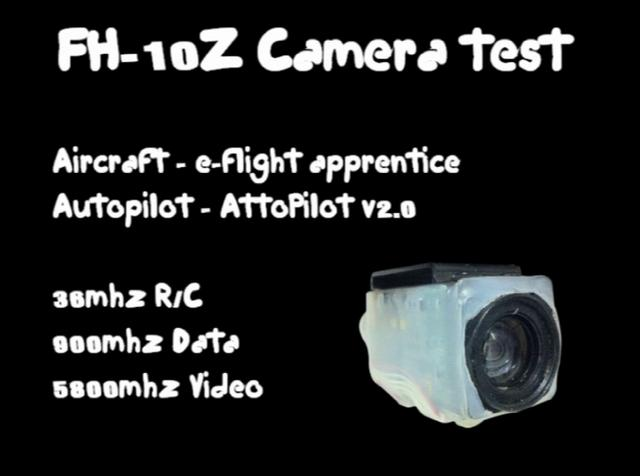 FH-10Z Zoom camera test onboard UAV