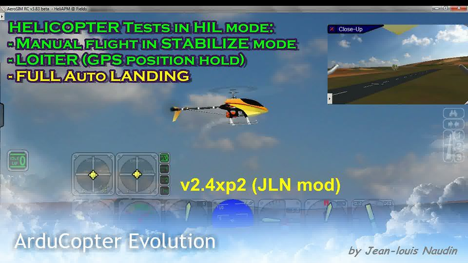 ArduCopter v2.4xp2 HELI: Full AUTO-AUTO LANDING with a Raptor 30 type helicopter
