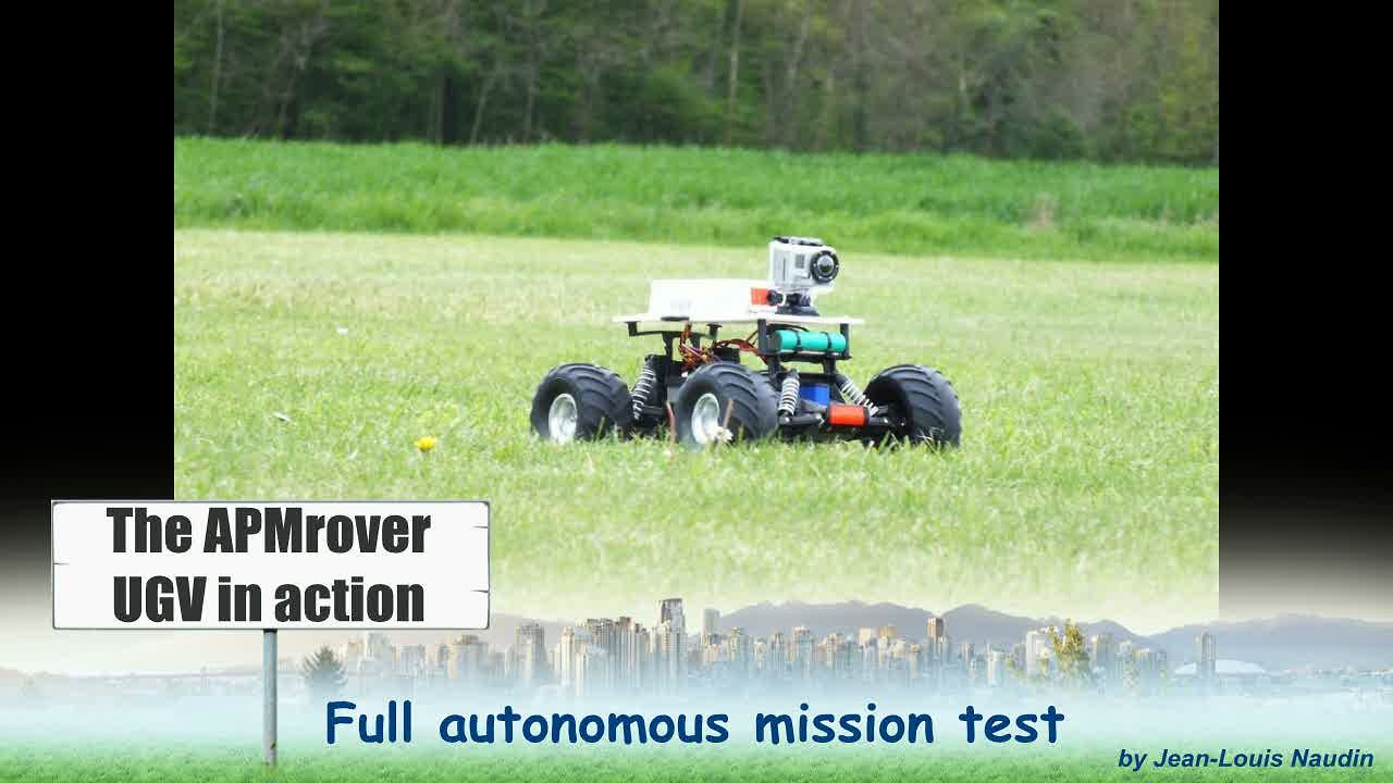 APMrover v2 in Action: Full autonomous UGV reco mission