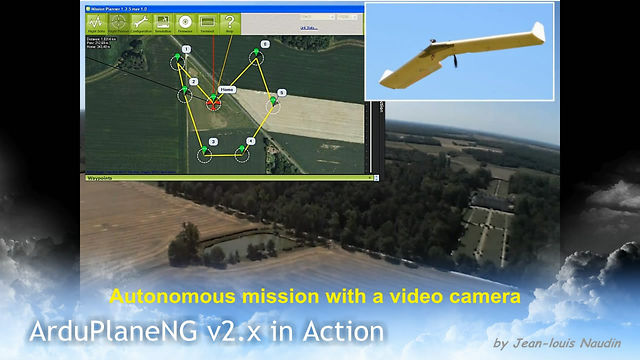 On board video during an autonomous mission under flight plan with the Maxi Swift flying wing