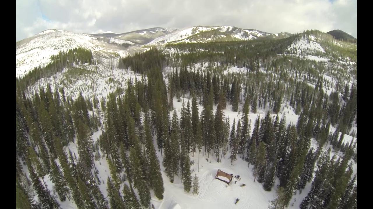 Multirotor and GoPro 3 over Challenge Cabin, Montana