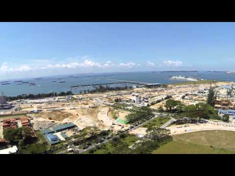 APM2.5 Reptile 500 Quadcopter flying 19th May 2013 near Gardens by the Bay