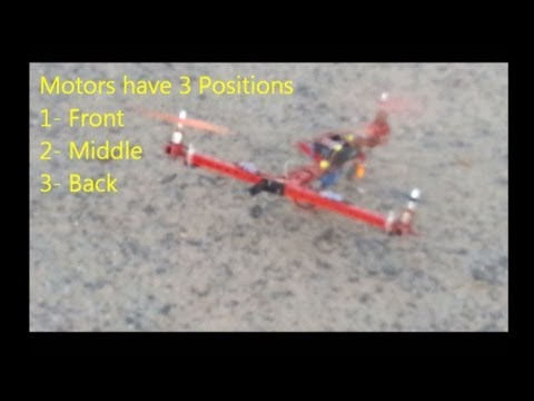 Tilt TriCopter on Gears (OUTDOOR) Part 2  [Backward Takeoff]