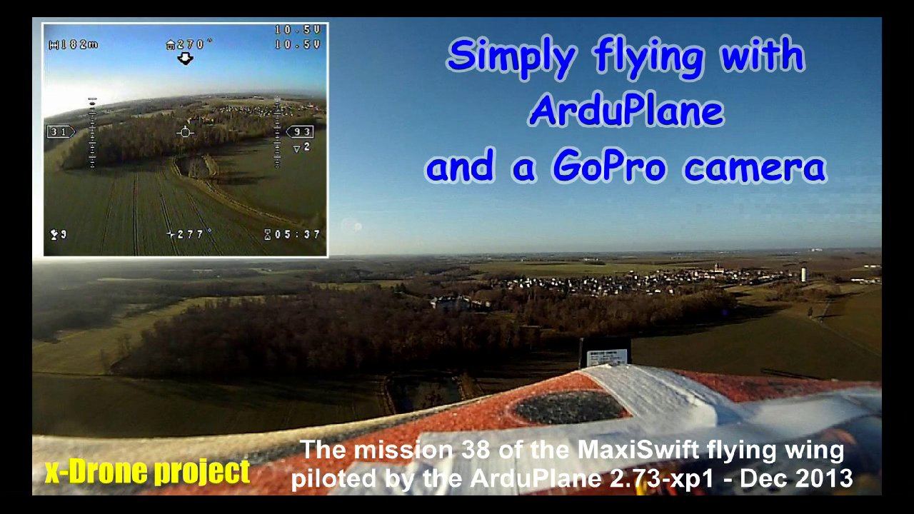 Simply flying with ArduPlane and a GoPro camera