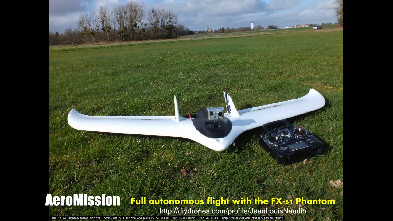 The FX-61 Phantom flying wing tested with the ThermoPilot v7.1 and the APM v2.6