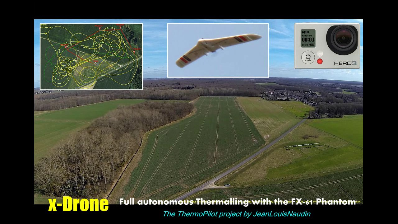 Full autonomous thermalling with the FX-61 Phantom flying wing