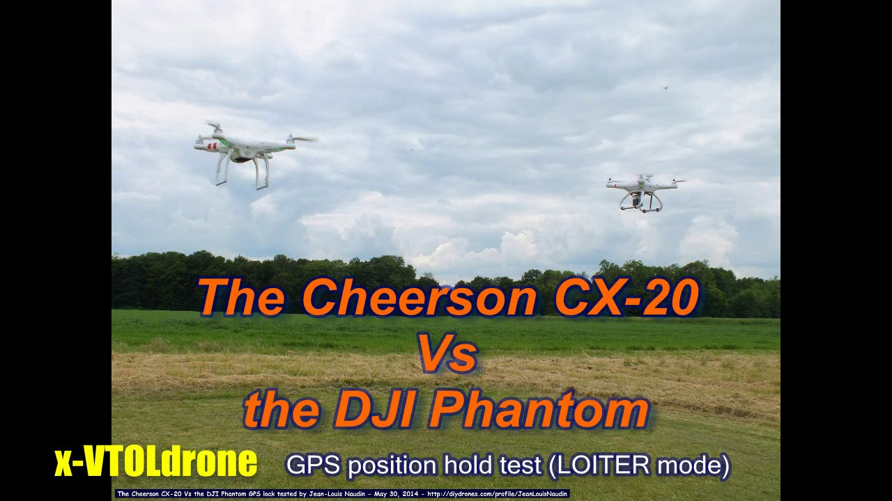 The Cheerson CX-20 Vs the DJI Phantom tested in GPS position hold
