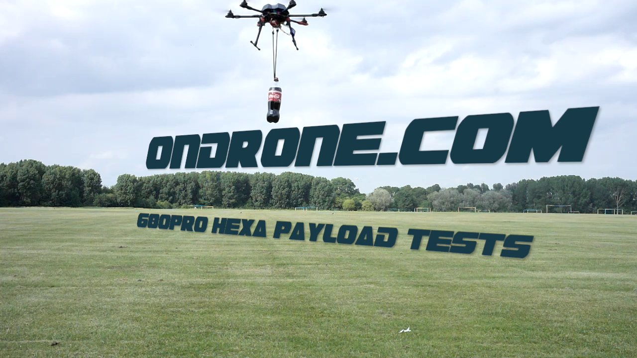 onDrone.com 680PRO Hexa 2Kg payload test