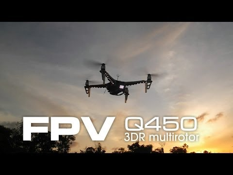 FPV in the dark - APM Q450 multirotor