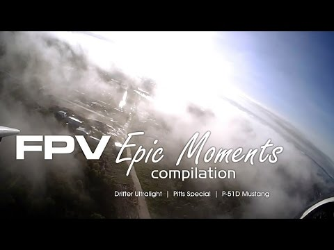 FPV plane epic moments compilation