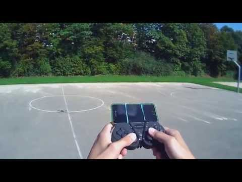 SimpleFPV app. Copter controlled by gamepad