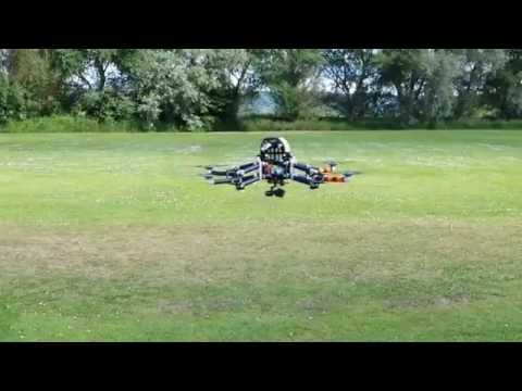 Mantis V4 - Transformable Multirotor Flight Test